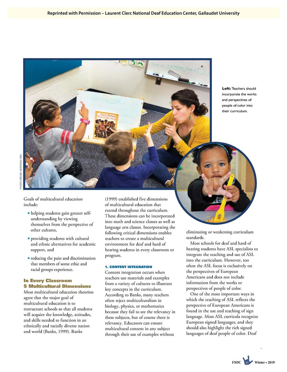 Reprinted with Permission     Laurent Clerc National Deaf Education Center, Gallaudet University  PHOTO CREDIT  MATTHEW VI...