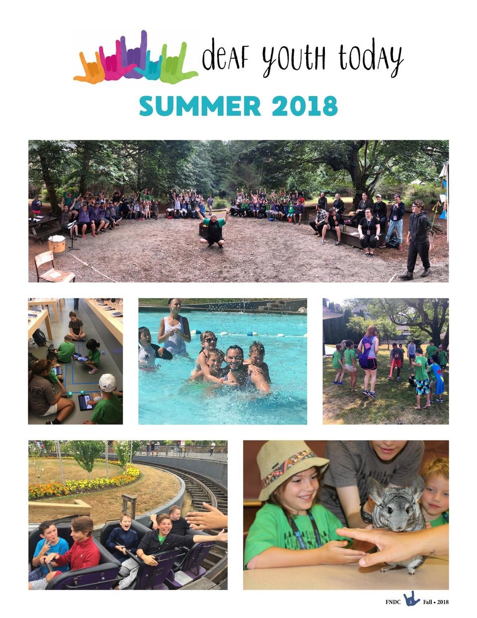 deaf youth today SUMMER 2018  FNDC  3  Fall     2018